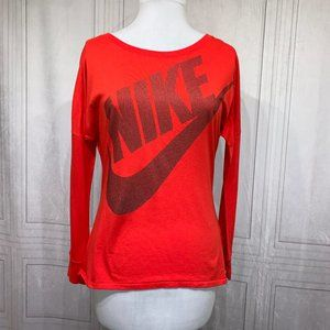 Nike Long Sleeve Red Black T-Shirt Small